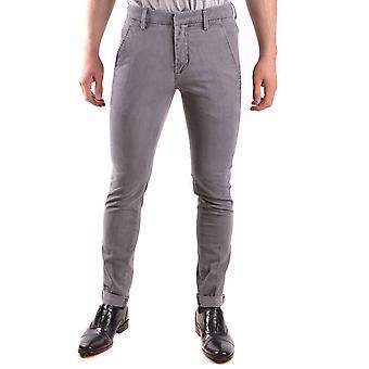 Dondup Ezbc051045 Men's Grey Cotton Pants