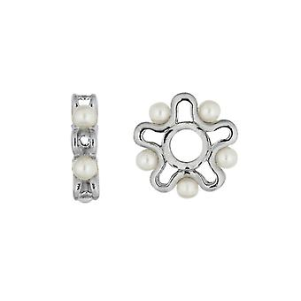 Storywheels Silver & Pearl Wheel Charm S089PRL