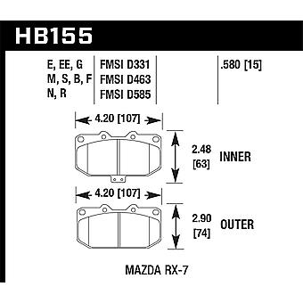 Hawk performance HB155G. 580 DTC-60
