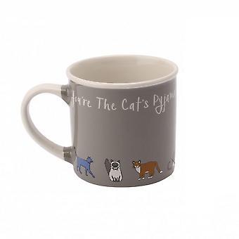 Zampe per pensiero gatti pigiama tazza del gres