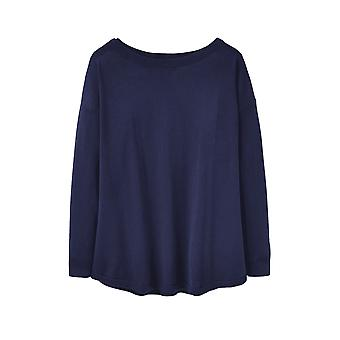 Joules Kerry Womens Slash Neck jumper-French Navy