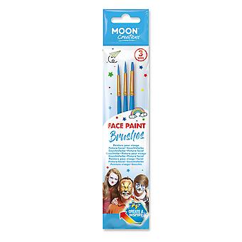 Moon Creations - Face Paint Brush Set (Blue)