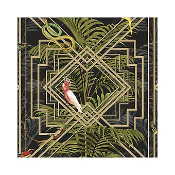 Holden decor Congo vet Glasshouse tropische jungle Butterfly Snake behang 90202