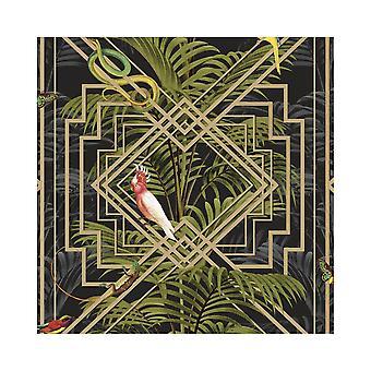 Holden decor Congo Bold Glasshouse Tropical Jungle Butterfly Snake wallpaper 90202