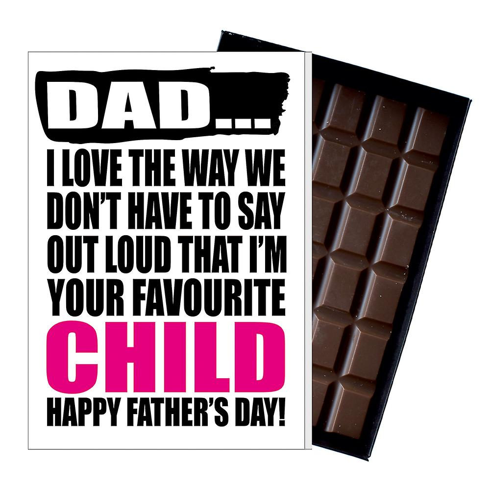 Funny Father's Day Gift Silly Chocolate Present Rude Card For Dad DADIYF112