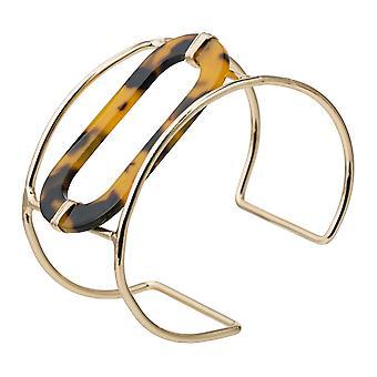 Gemshine Armreif vergoldet Schildplatt / Resin Armband. Schmuck Made in Spain