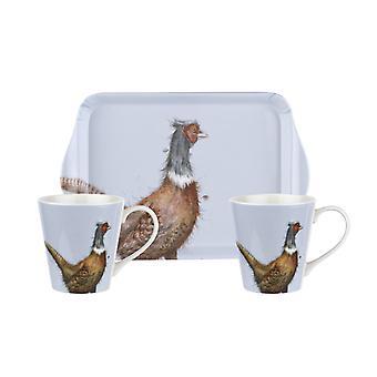 Wrendale Designs Mug and Tray Set Pheasant