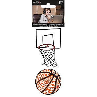Embroidered Stickers - Sports Basketball - Stationery New st3030