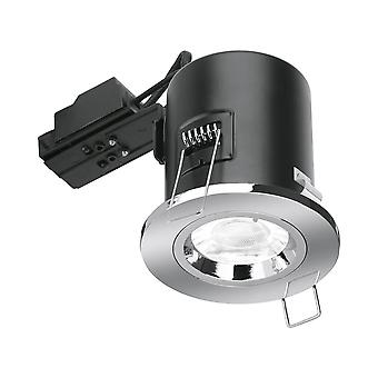 Enlite GU10 Fire Rated Fixed Downlight - Nickel