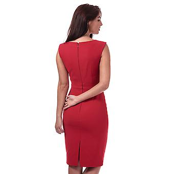 Womens French Connection Glass Stretch V-Neck Dress In Blazer Red