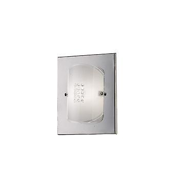 Diyas Starlis Wall Lamp Switched 1 Light Polished Chrome/Glass/Crystal