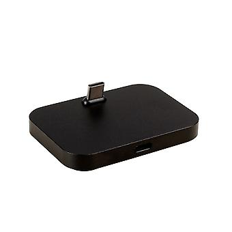 (Black) Flat Dock Charger Station TYPE - C Desktop Charging Stand For HTC 10