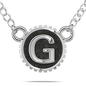 BIXLER Letter 'G' Fashion Pendant Necklace In Sterling Silver