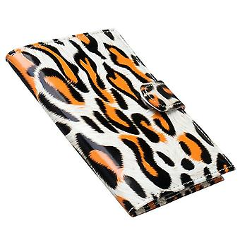 Reisepasskoffer, Leopard-Orange