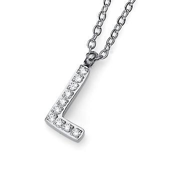 Oliver Weber hanger eerste L staal CZ kristal