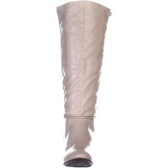Karen Scott Womens HOLLEE lederen gesloten teen knie High Fashion laarzen