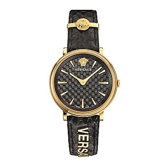 Versace VE8101019 Women's Black V Circle Logomania Wristwatch