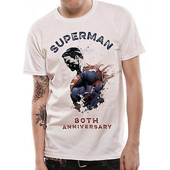 T-shirt Superman Unisex Adults 80e anniversaire