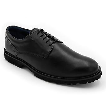 Padders Uppingham Mens Leather Wide (g Fit) Shoes Black