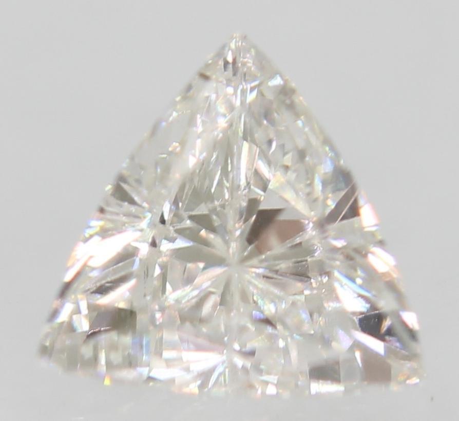Certified 0.32 Carat D VS1 Triangle Enhanced Natural Loose Diamond 4.96x4.52mm