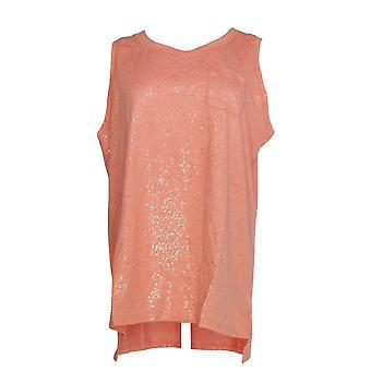 Isaac Mizrahi Live! Kvinder ' s top Soho scoop hals lomme tank pink A290890