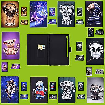 For Samsung and Apple Tablet Motif Pattern Case Art Leather Case Cover