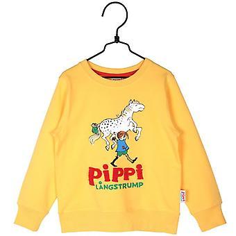 Pippi Langstrumpf Pippi College Pullover gelb
