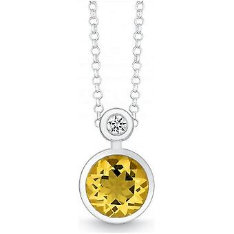 QUINN - Necklace - Silver - Gemstone - Citrine - Wess. (H) - 27393911