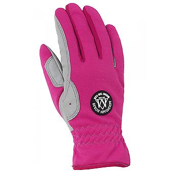 Mountain Horse Happy Womens Riding Glove - Flashy Pink