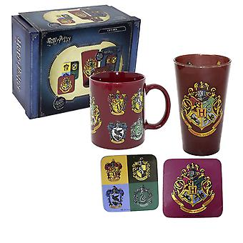Harry Potter Gift Box Crests 2018 afgedrukt, 4-delige, in geschenk doos.
