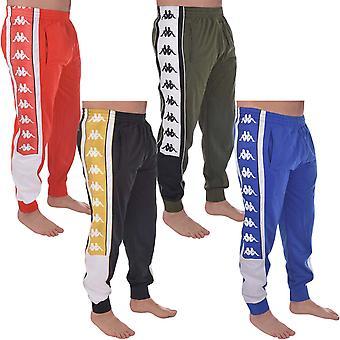 Kappa Mens Sports Retro Cuffed Elasticated Track Pants Tracksuit Bottoms Joggers