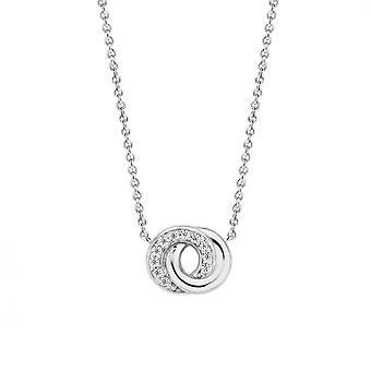 Ti Sento 3915ZI - necklace silver 2 s interlaced rings necklace