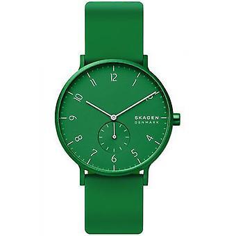 Watch Skagen SKW6545 - AAREN KULOR Bo tier Aluminium Green Bracelet Silicone Green Men/Women