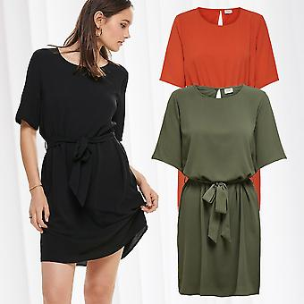JDY Womens Dress Belt Half Sleeve Shirt Dress 2/4 Short Sleeve JDYAMANDA Loose