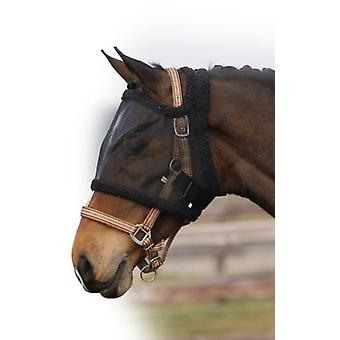 QHP Black fly screen mask without ear muffs