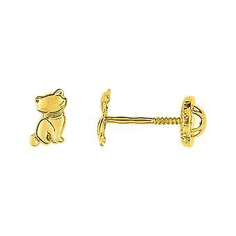 Ohrringe Clous VIS ALLE METAL JAUNE Gold 375/1000 (9K)