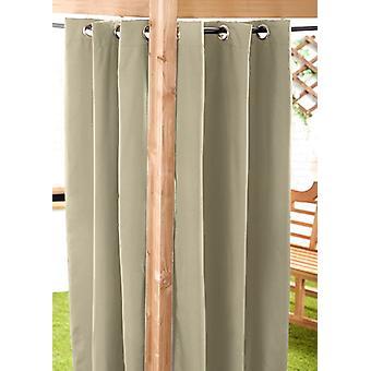 Pierre 140 x 240cm Outdoor Curtain Eyelet Panel Décor Drape Patio Shade