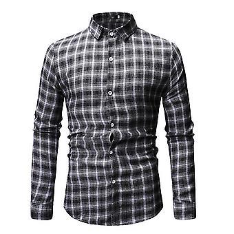 Alle Themen Men's Buffalo Karo bedrucktshirt Slim Fit T-shirt