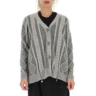 Fabiana Filippi Mad129b118b089vr3 Women's Grey Wool Cardigan