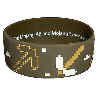 Minecraft, Silicone Bracelet - Brown