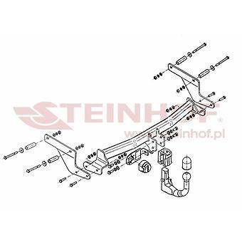 Steinhof Automatic Detachable Towbar (Vertical) for Renault CAPTUR 2013 Onwards