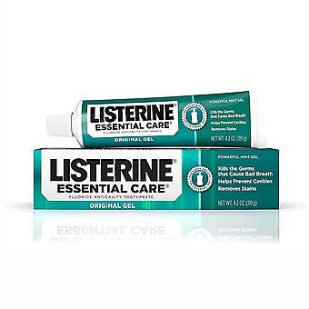 Listerine essential care anticavity tandkräm, originalgel, kraftfull mynta, 4,2 oz