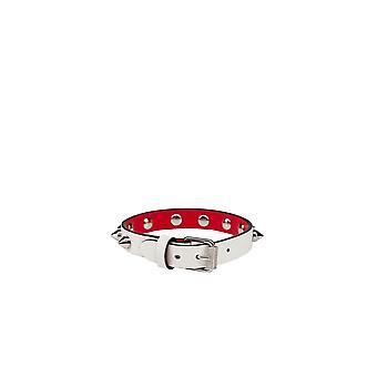 Christian Louboutin 1205100w167 Women's White Leather Bracelet