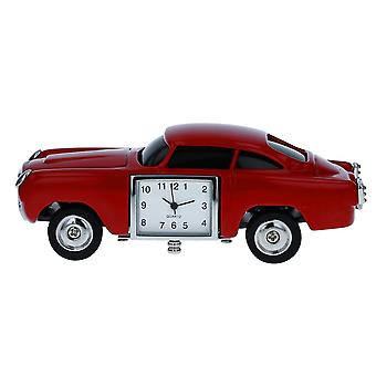 TM Miniature Vintage Sports Car Red Metal Novelty Quartz Movement Collectors Clock TM32