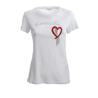 Patrizia Pepe 8m1014a4v5w103 Women's White Cotton T-shirt