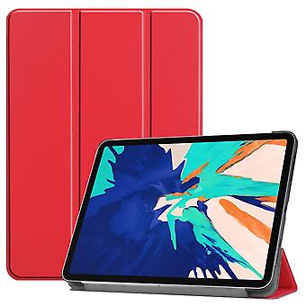 Premium Smart Cover Red Case Case Case til Apple iPad Pro 12.9 2020 Sag