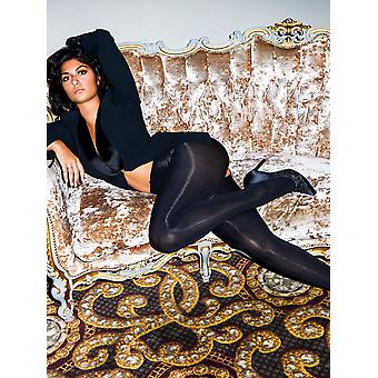 Miss Naughty 100 Denier Blackout Open Gusset Tights
