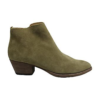 Dolce Vita Women's Slade Ankle Bootie (7, Olive Suede)