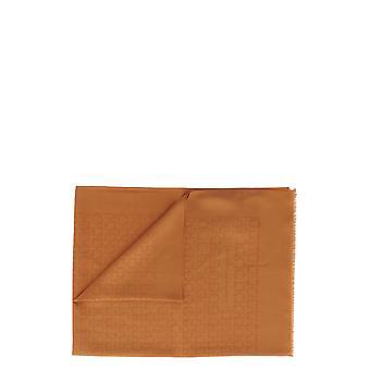 Salvatore Ferragamo 327987725365 Kvinnor's Orange Silk Scarf