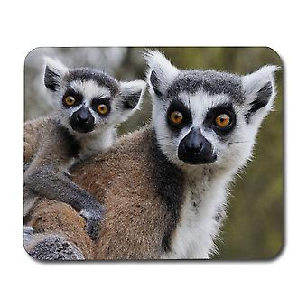 Lemur Mom & Baby Mouse Pad
